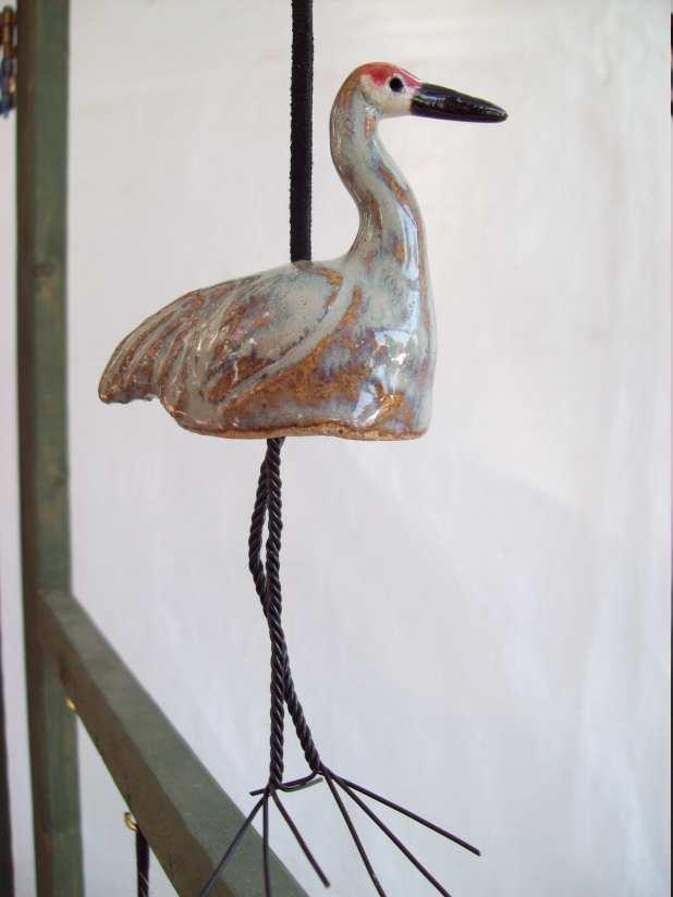 Photo of ceramic Sandhills crane