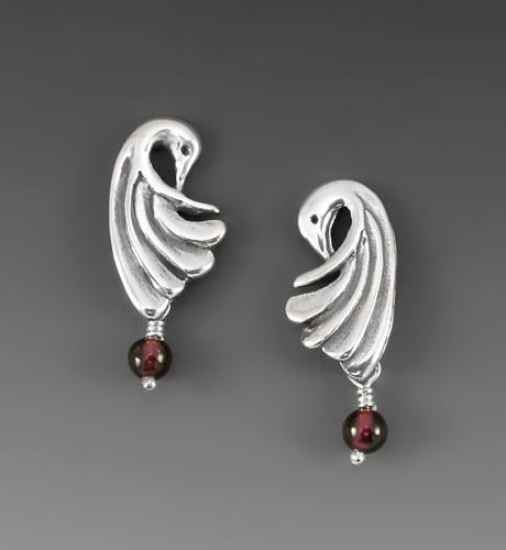 Photo of crane wing earrings